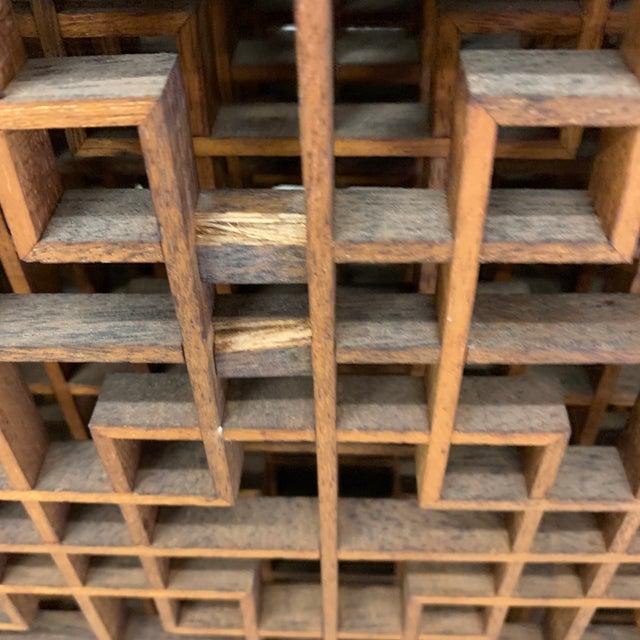 Brown Teak 6-Panel Folding Screen For Sale - Image 8 of 13