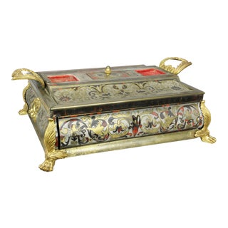 Charles X Boulle and Ormolu-Mounted Inkstand For Sale