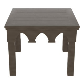 Oomph Ocean Drive Outdoor Side Table, Dark Gray For Sale