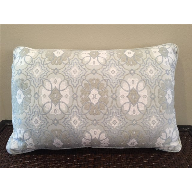 Blue Kidney-Shaped Throw Pillow - Image 2 of 4