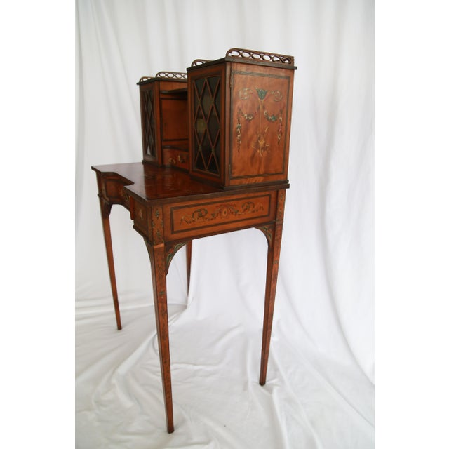 19th Century Federal Hand-Painted Secretary Desk For Sale - Image 4 of 12