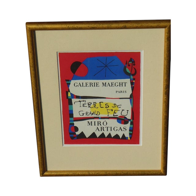Joan Miro Vintage Framed Lithograph - Image 1 of 3