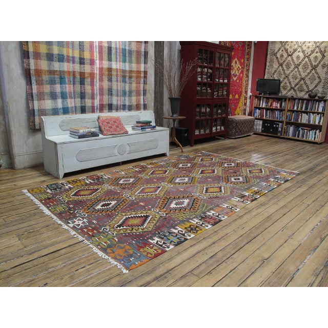 A very attractive and high quality example of Kilim weaving from Western Turkey. Such pieces display the ability of...