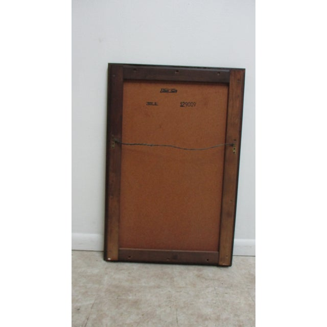 Ethan Allen Old Tavern Pine Console Dresser Hanging Wall Mirror For Sale - Image 9 of 11