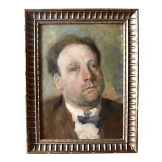 Otto Hanrath Oil Painting Portrait For Sale
