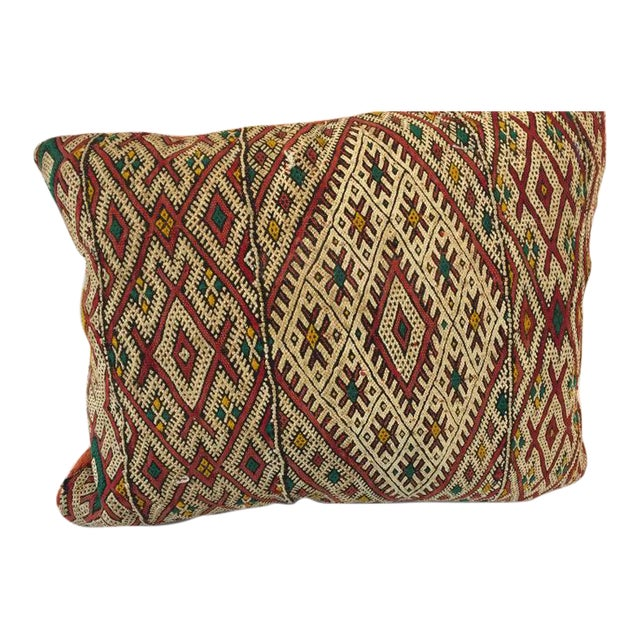 Handwoven Moroccan Tribal Berber Throw Pillow For Sale