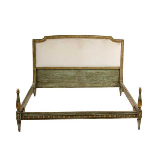 Paint 1940s French Louis XVI Style Painted Queen Size Bedframe For Sale - Image 7 of 7