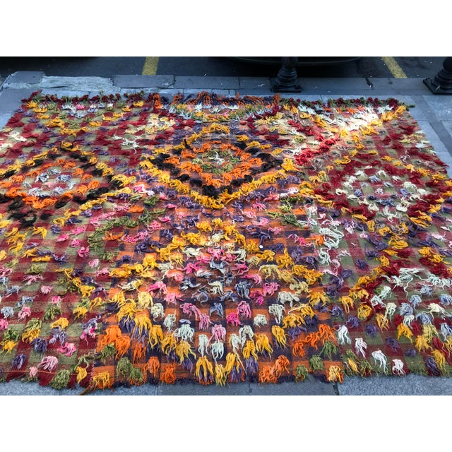 1960s 1960s Turkish Bohemian Floral Antique Handmade Rug For Sale - Image 5 of 9