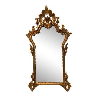 Antique Italian Rococo Carved Rectangular Mirror
