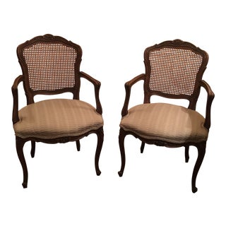 1970s Vintage French Louis XV Chairs - a Pair For Sale