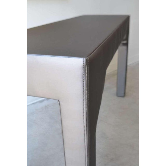 Upholstered Console Table For Sale - Image 4 of 7
