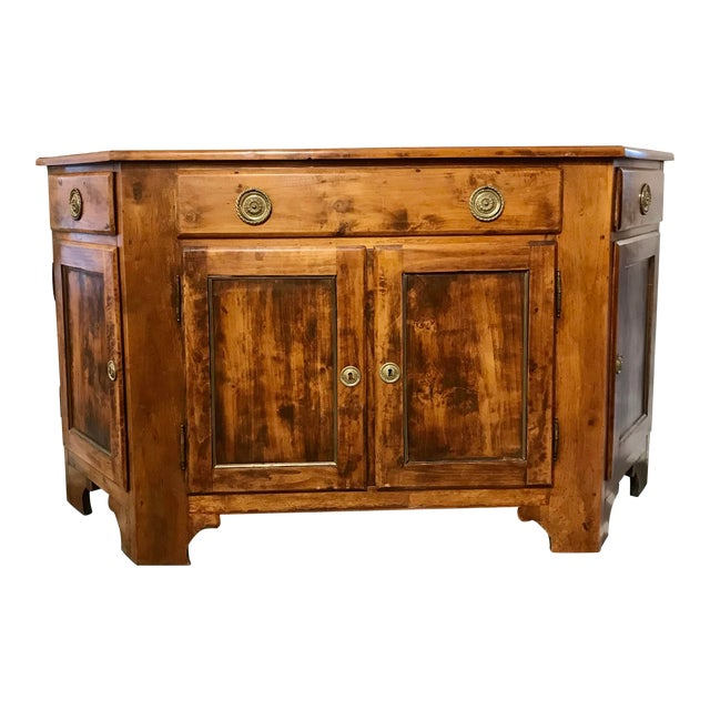 Unusual Napoleon III Walnut Buffet For Sale