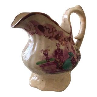 Antique Staffordshire Lustreware Pitcher C.1850 For Sale