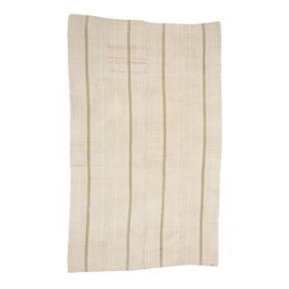 Vintage Striped Turkish Hemp Kilim Rug-5′7″ × 9′ For Sale