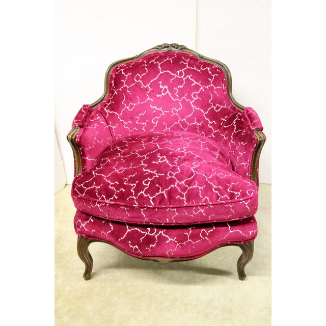 Pink Petite French Bergere Chair For Sale - Image 8 of 8