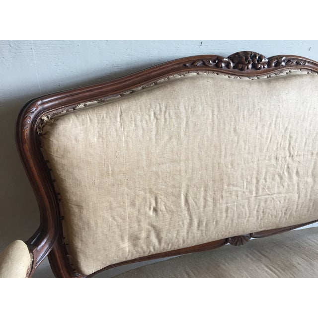 Antique Louis XV Carved Walnut Settee Loveseat - Image 6 of 11