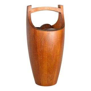 Scandinavian Modern Dansk Teak Ice Bucket by Jens Quistgaard For Sale