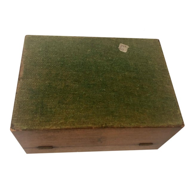 Antique French Marquetry Inlay Jewelry Box For Sale - Image 9 of 10