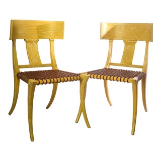 20th C. Klismos Form Side Chairs - a Pair For Sale