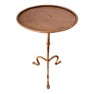 Small Gilt Iron Martini or End Table For Sale