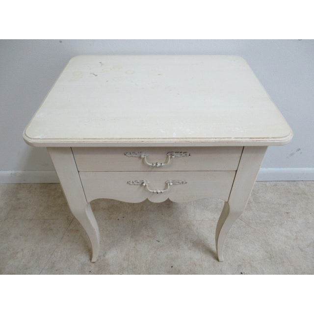 Ethan Allen Maison French Country Lamp End Table / Night Stand - Image 5 of 6