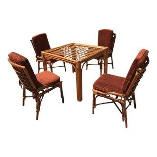 Hollywood Regency Rattan Dining Set