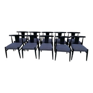 Midcentury Modern Style Klismos Chairs Set of Ten . For Sale
