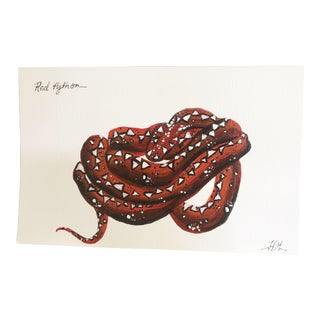 """Red Python No 1"" Original Painting"