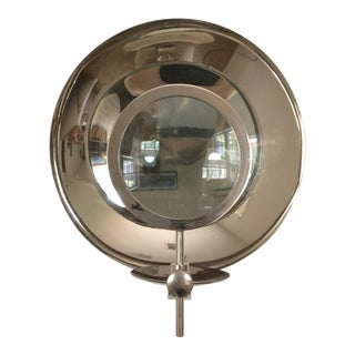 Rare Early 20th Century Plated Parabolic Reflector Candle Holder Wall Sconce For Sale
