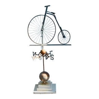 Vintage Bicycle Weathervane For Sale