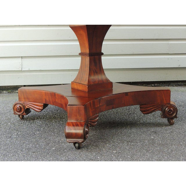 Early 19th C English Regency Library Table with Writing Slide For Sale In Charleston - Image 6 of 7