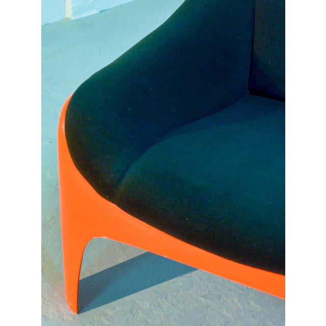 Iconic Mid -Century Design Italian Fiberglass Lounge Chair by Sergio Mazza for Artemide, 1960s For Sale - Image 10 of 11