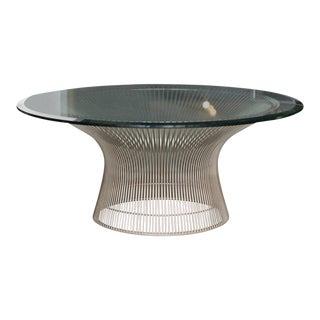 1970s Mid-Century Modern Warren Platner for Knoll Steel Coffee Table For Sale