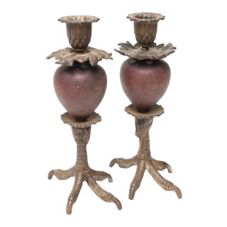 Anthony Redmile Talon Candle Holders - a Pair For Sale