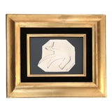 Image of Original Vintage Robert Cooke 1960's Ink Drawing Abstract Dog For Sale