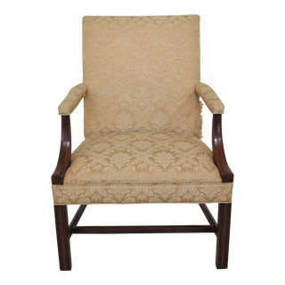 Hickory Chair Co Chippendale Mahogany Open Arm Chair For Sale