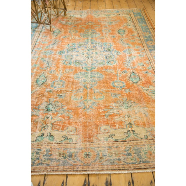 "Vintage Distressed Oushak Carpet - 6'4"" X 9'3"" For Sale - Image 9 of 13"