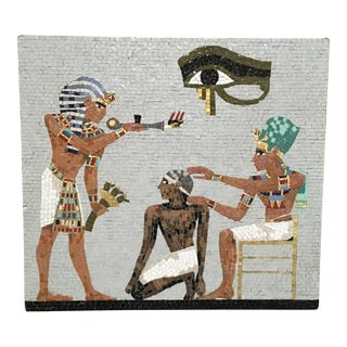 1950s Mosaic Egyptian Scene For Sale