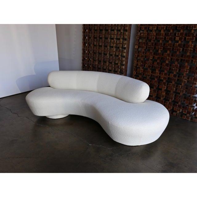 Mid-Century Modern Vladimir Kagan Serpentine Sofa For Sale - Image 3 of 12