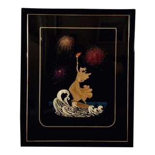 """Art Deco """"Statue of Liberty Night"""" by Erte' Signed Serigraph For Sale"""