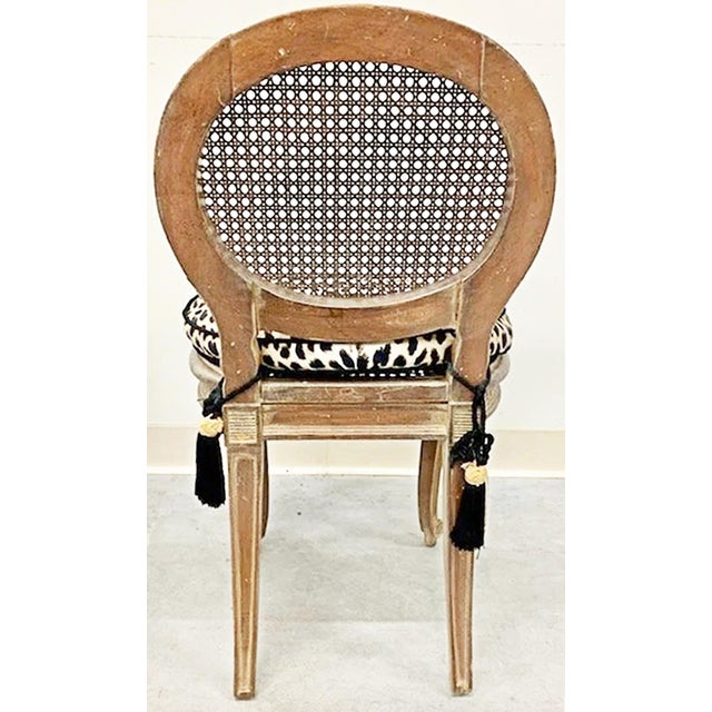 French Antique French Caned Child's Vanity Chair For Sale - Image 3 of 5