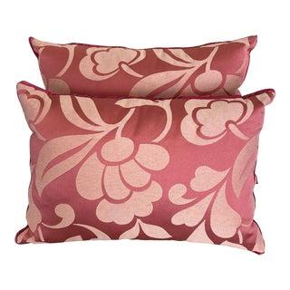 DWM | MALOOS Pink Floweret Damask Pillows - a Pair For Sale