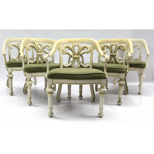 Dorothy Draper Kessler Cast Aluminum Patio Dining Chairs - Set of 5 - Image 2 of 8