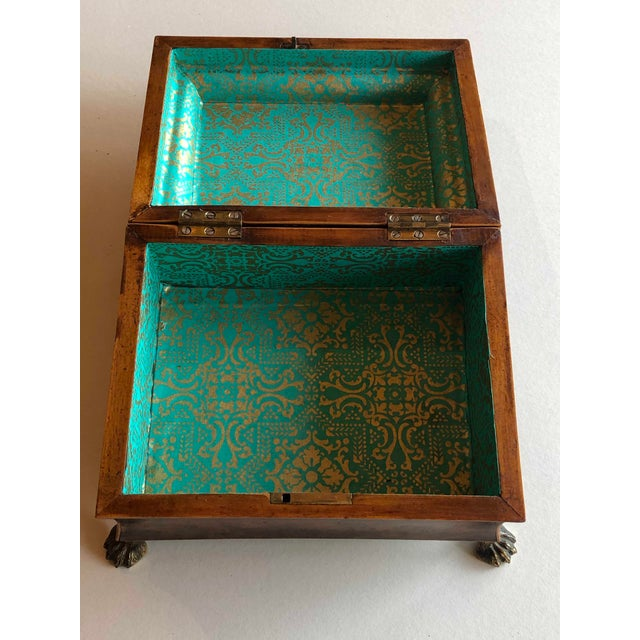 19th Century Regency Burr Yew Table Box For Sale - Image 5 of 12