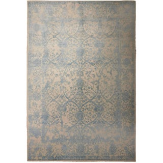"""Transitional Hand-Knotted Luxury Rug - 8'1"""" X 9'8"""" For Sale"""