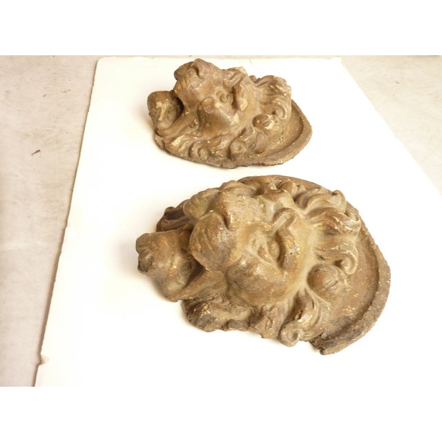 Wall Mounted Lion Heads - A Pair - Image 2 of 4
