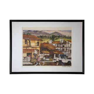 """Franklin McMahon """"Home Construction"""" Signed Art Print For Sale"""