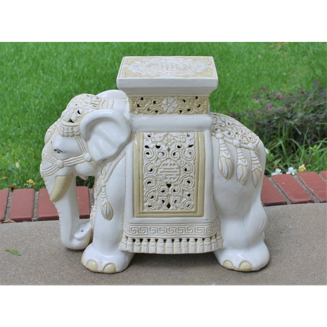 Mid-Century Elephant Garden Seat Stool - Image 2 of 10