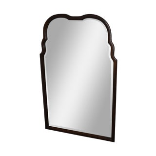 Thomasville Mahogany Frame Beveled Wall Mirror For Sale
