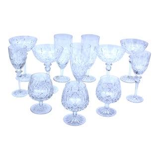 Late 20th Century Rogaska Yugoslavian Lead Crystal Glassware - 12 Pieces For Sale